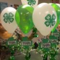 Spring Severson and Rita Boyes put together table displays for 4-H Week