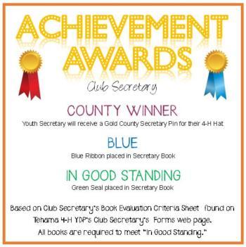 Club Secretary Awards Announcement