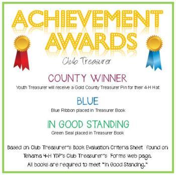 Club Treasurer Awards Announcement